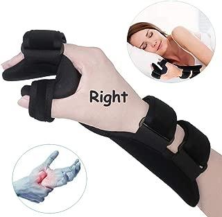 Soft Resting Hand Splint Night Wrist Splint Support Immobilizer Finger Wrist Fracture Fixation Scaffold for Stroke Hand Pain Tendinitis Sprain Fracture Arthritis Dislocation (Medium, Right)