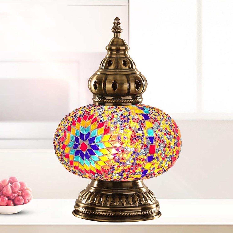 WZJ-TISCHLEUCHTE Nachtlicht-Mosaik-Glas-Nachttischlampe der europischen Hauptdekoration-LED (Farbe   C)
