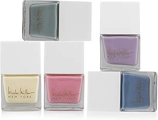 Nicole Miller Nail Polish Set - 5 Pc Set of Fingernail and Toenail Polish for Women and Girls, 5 Quick to Dry Matte Nail Polish Colors - 10.5 Ml