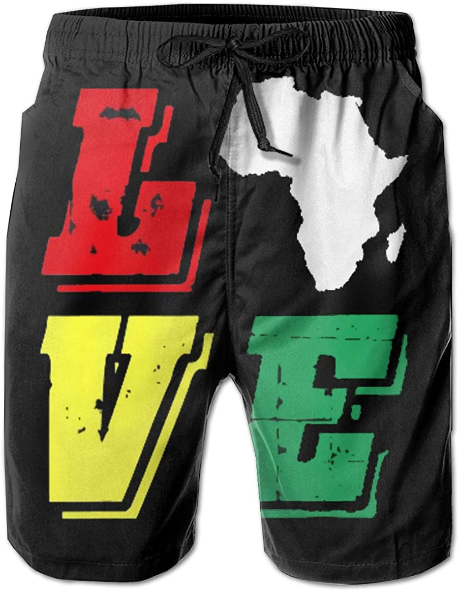Love Africa At the price African Map Men Max 90% OFF Quick Swimwear Trunks Short Swim Dry
