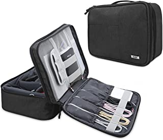 BUBM Electronic Organizer, Double Layer Electronic Bag for Cables, Plugs, External Hard Drive and Other Electronic Accessories (Large/Black)