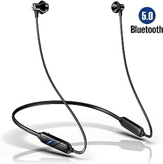 Bluetooth イヤホン 高音質 両耳 ネックバンド型 ワイヤレス イヤホン Bluetooth 5.0 自動ペアリング 超軽量 IPX6防水 AAC対応 ブルートゥース イヤホンiOS/Android/Windows対応 L8 黒