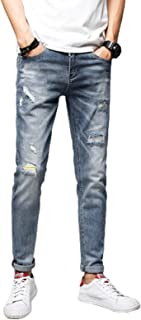 Herenjeans Lente en zomer Broken Hole Personality Patch Trend Stretch Slim Comfortabele all-match jeans