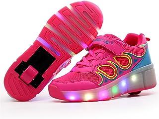 BY0NE Kids Girls Boys Light up Wheels Roller Shoes Skates Sneakers