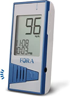 FORA V12 Talking Blood Glucose Monitor, Use FORA V12 Test Strip Only, for Diabetes Monitoring