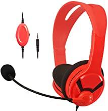 AmazonBasics Gaming Headset - compatible with Nintendo Switch, Xbox One, PlayStation 4 and PC - Red