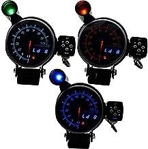 12V Car Tachometer Gauge Kit, Universal 95MM 11000 RPM Tachometer RPM Gauge Stepper motor With Shift Light Three Led Color Display