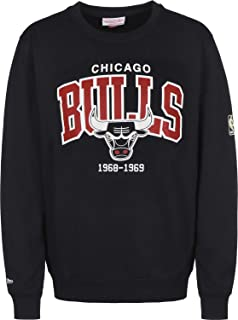 Chicago Bulls HWC Arch Logo Crewneck Black NBA Sweater Pullover Herren Men