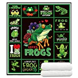 TreeSwift Frog Fleece Blanket Soft and Cozy Throw Blanket for Kids and Adults Luxurious Frog Blankets Frog Gifts for Frog Lovers