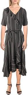 Calvin Klein Women's Ruffle Front Wrap Dress