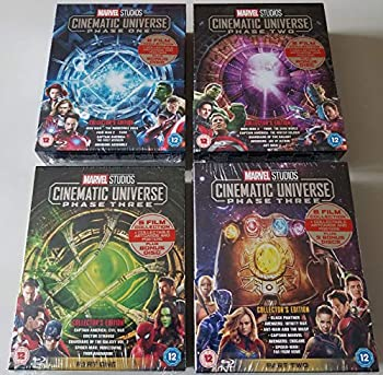 Marvel Cinematic Universe - Phase One Two and Three Part 1 and 2 - Marvel 23 Movies Blu Ray Set