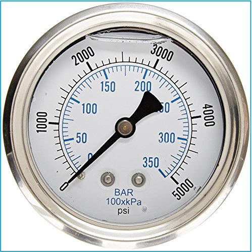 LIQUID FILLED PRESSURE GAUGE, 2.5