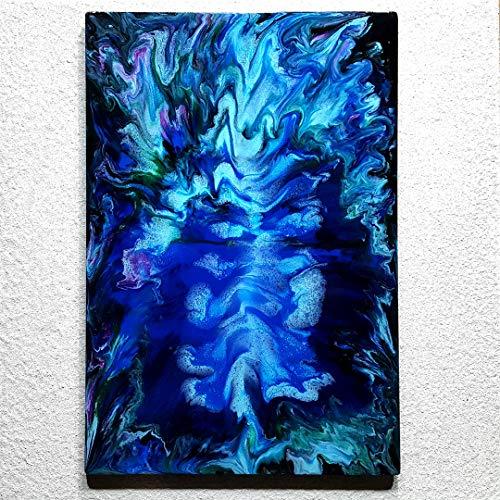 ORIGINAL Resin Kunst Harz Gemälde Abstrakte Malerei Bild Modern Art HANDGEMALT - hochglanz Wandbilder direkt vom Künstler F.H. - Wohnung Deko Wohnzimmer - Werksnummer: Re 050