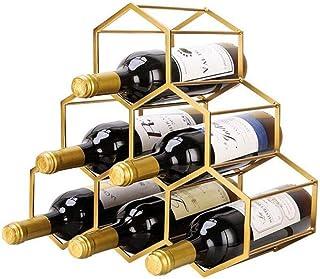 JFFFFWI Support de casier à vin, Debout 6 Bouteilles de Support d'affichage de vin Support de Rangement Porte-vin Salon, c...