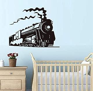 gykjf Wall Sticker Locomotive Steam Train Vinyl Wall Sticker Art Home Decor Wall Decals for Kids Room Wallpaper