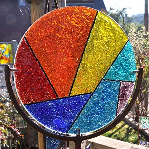 Gartendeko Exklusive Gartenskulptur aus Glas und Metall