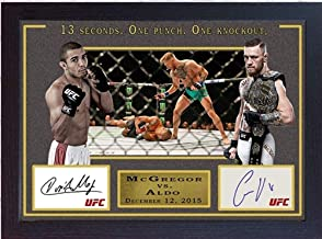 S&E DESING Conor McGregor vs Jose Aldo MMA UFC Signed Autograph Print Photo Framed