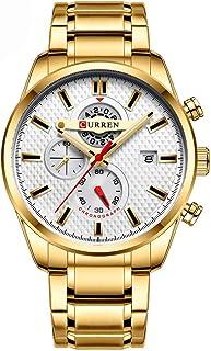 ساعة يد رائعة كلاسيكية من سبائك الفولاذ المقاوم للصدأ للرجال من GoolRC ساعة يد عصرية 3 ATM مقاومة للماء كوارتز