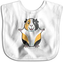 Guinea Pig Soft Absorbent Shoulder Bib for Drooling,Feeding and Teething White