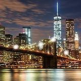 Eurographics LED Luces de Ciudad de Nueva York II Arte Lienzo, Multicolor, 40x 40cm