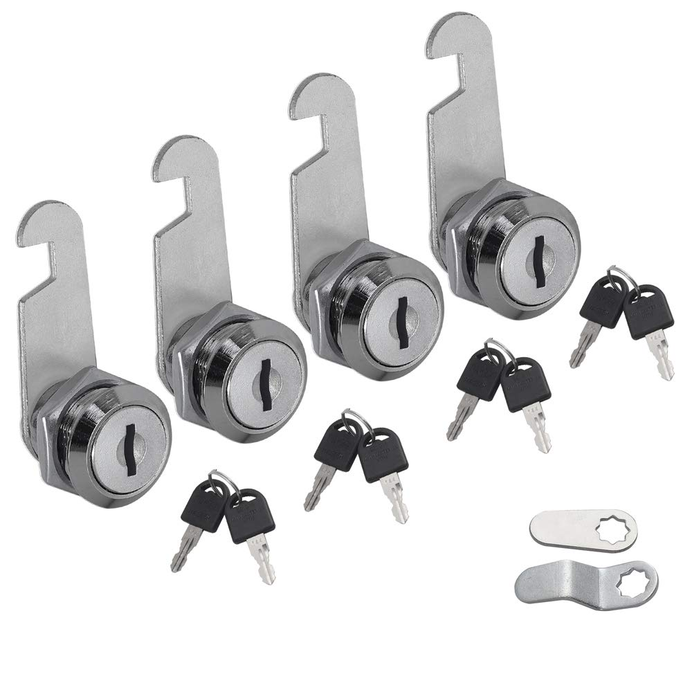 Cam Lock 16//20//25//30mm Locker Cabinet  Drawer Mailbox Door Toolbox with 2 Key HI