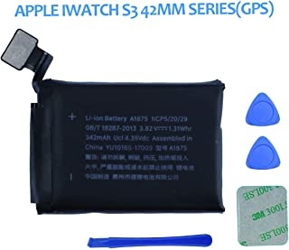 Swark Replacement A1875 Battery Compatible with Apple Watch Series 3 42mm GPS Version