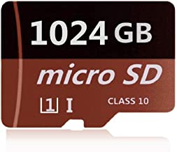 SADBOX 1024GB Micro Card SDXC Class 10 Memory Card with Adapter High Speed Memory Card TF Card,Designed for Android Smartphones, Tablets and Other Micro SD Card Compatible Devices (Brown)