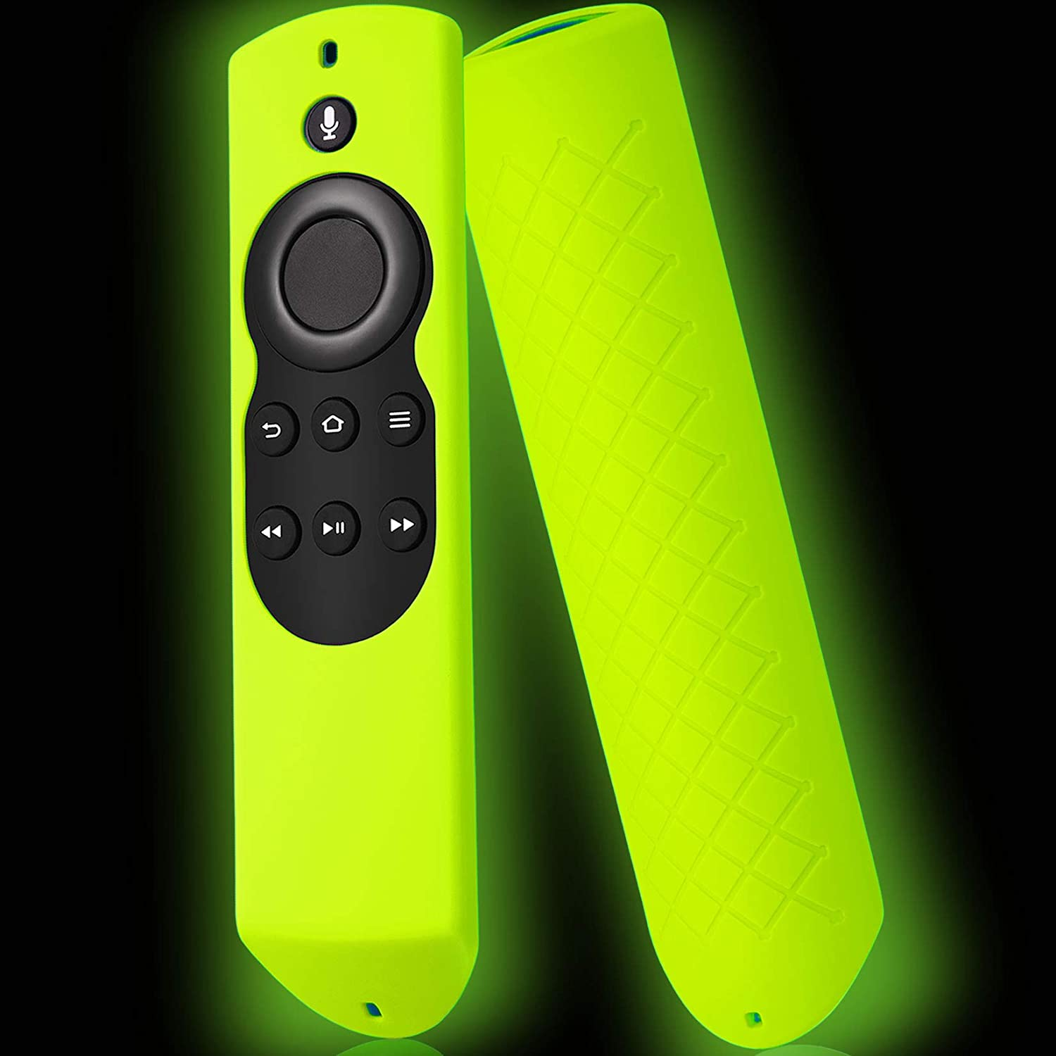 Firestick Cover Compatible with Amazon Fire Stick Remote, Cover for Fire Stick Remote Control Glow in The Dark, Firestickremote Cover Green
