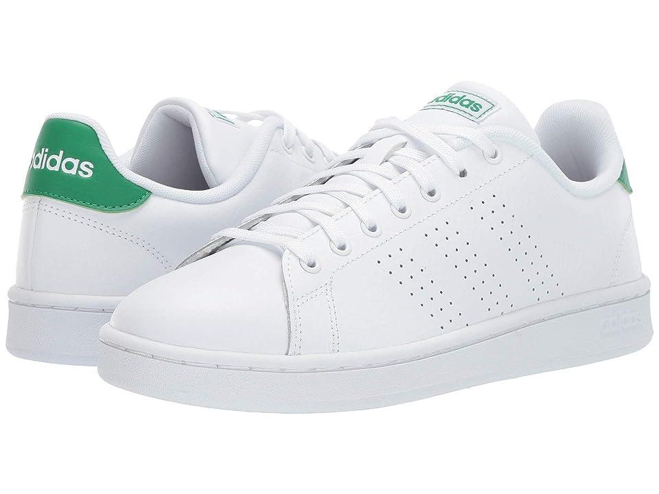 adidas Advantage (Footwear White/Footwear White/Green) Men