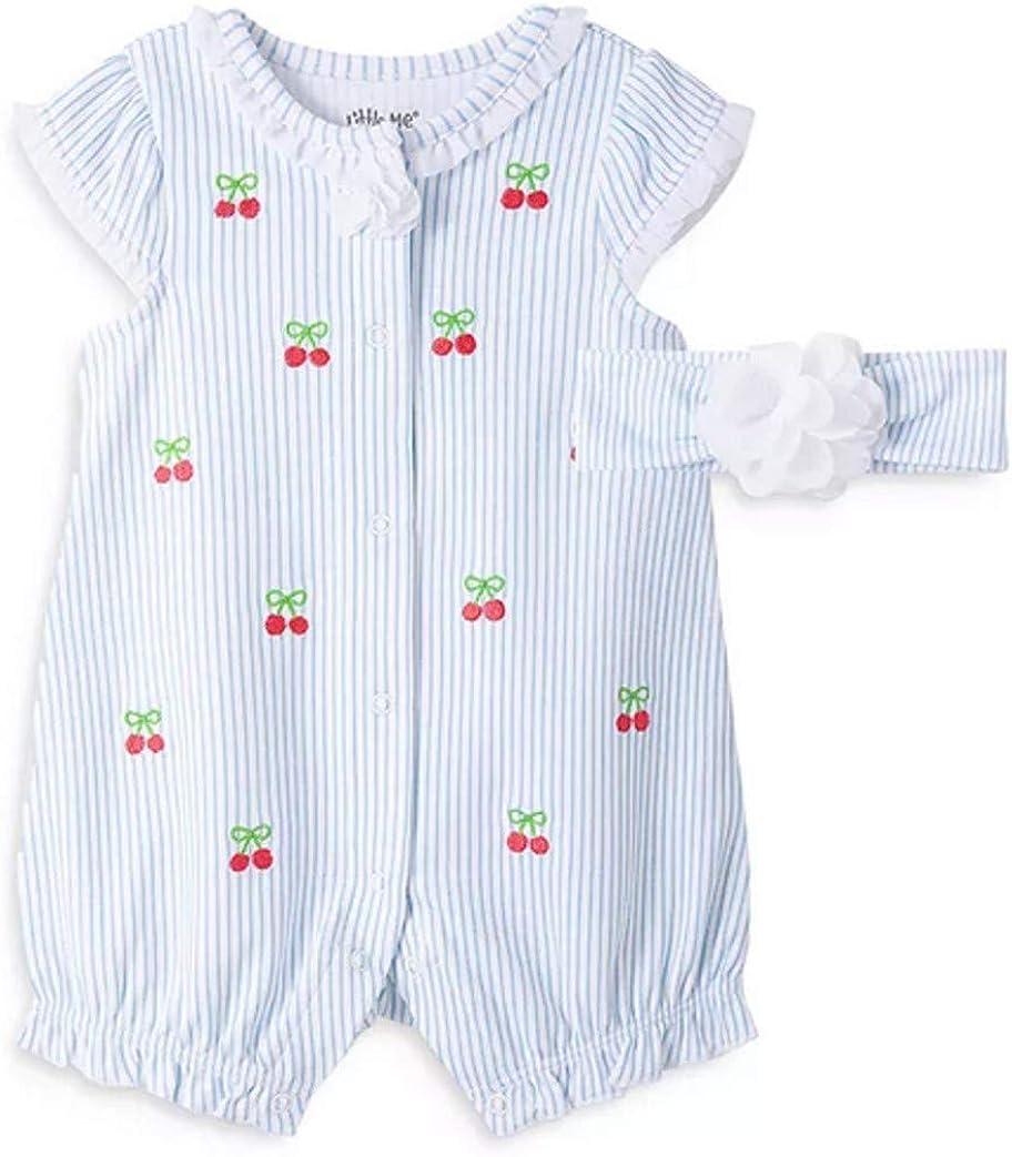 Little Me Baby Girls Phoenix Mall Cherries with Headband Matching Romper Finally resale start