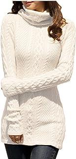 v28 Women Polo Neck Knit Stretchable Elasticity Long...