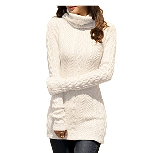 859fc7cc96f v28 Women Polo Neck Knit Stretchable Elasticity Long Sleeve Slim Sweater  Jumper