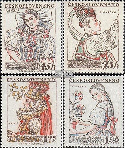 Tchécoslovaquie 1051-1054 (complète.Edition.) 1957 Costumes (Timbres pour Les collectionneurs) Uniformes / Costumes