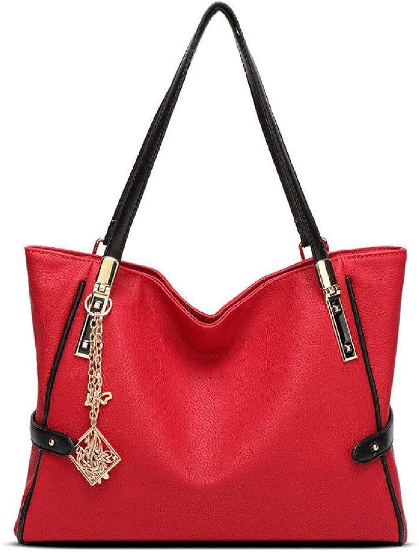 Eeayyygch Umhängetasche European Beauty Handtasche Schulter Diagonal Damen Tasche Tasche Tasche Travel Tote Bag (Farbe   Rot, Größe   36  13  28cm) B07JMTYVP3 f23898