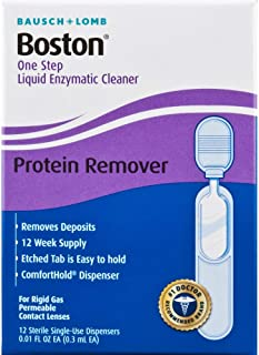 Bausch & Lomb Boston One Step Liquid Enzymatic Cleaner, Protein Remover 3.60 mL (Pack of 2)