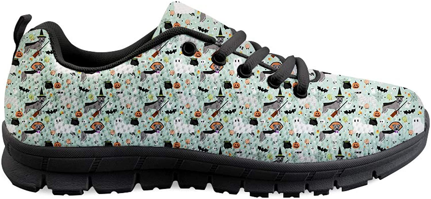 Owaheson Laceup Sneaker Training shoes Mens Womens Pitbull Halloween Elements Dress Up