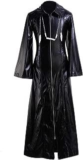 VOSTE Roxas Costume Kairi Halloween Role Play Game Cosplay PU Jacket
