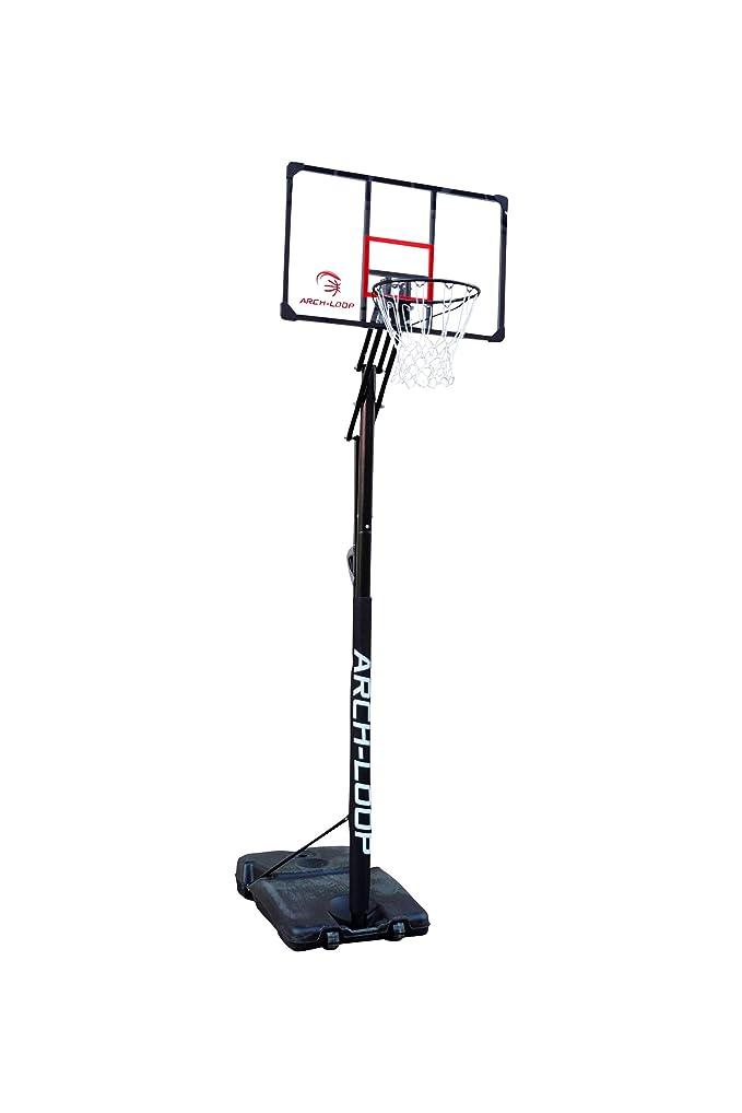 天皇調和のとれたスローアーチループ(Arch Loop) バスケットボール バスケットゴール 【レッド/ブルー/紫/オレンジ】アクリルボード 一般 ミニバス 対応 アクショングリップ式高さ調節