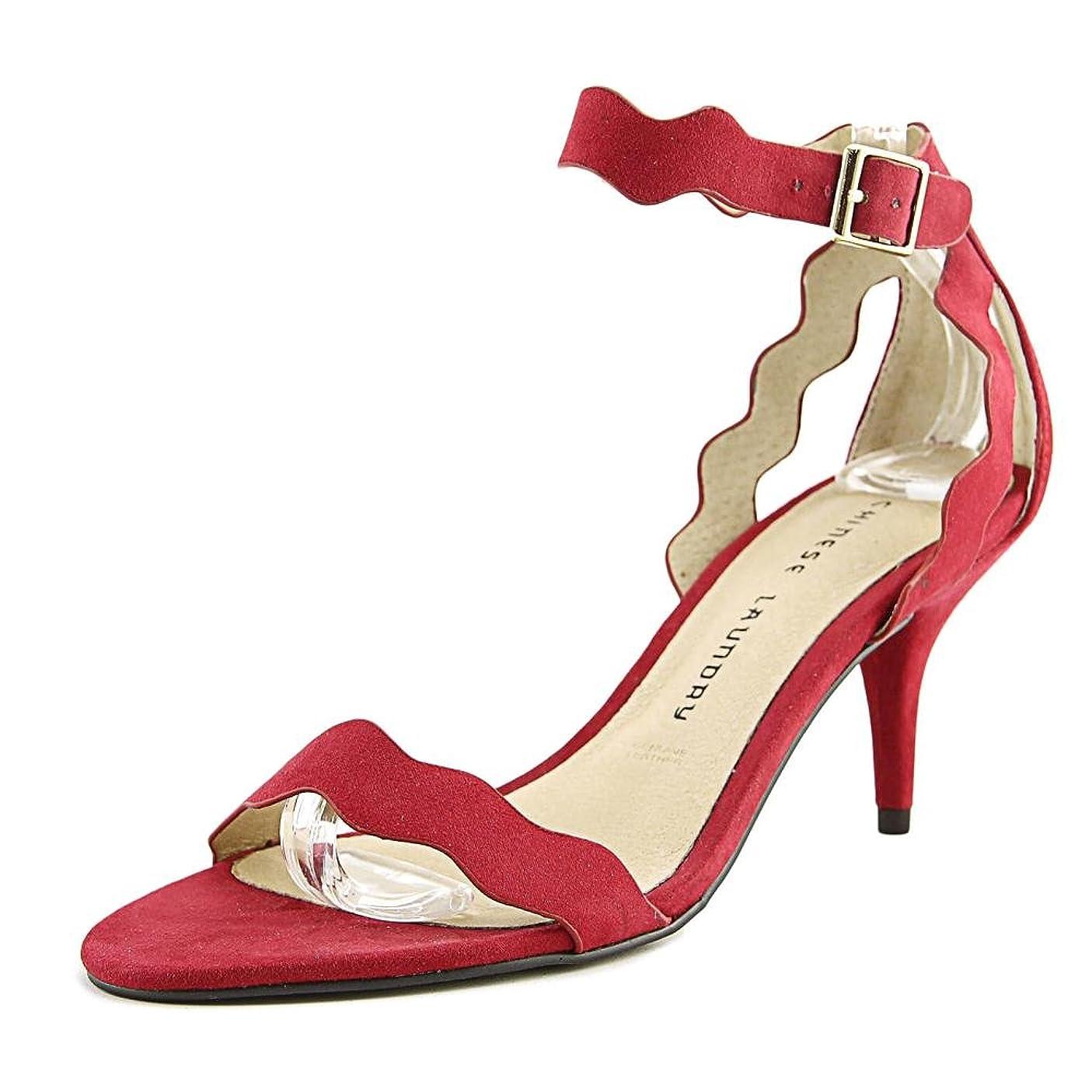 欠席耐えられる童謡[チャイニーズランドリー] Womens Rosie Suede Open Toe Casual Ankle Strap Sandals [並行輸入品]