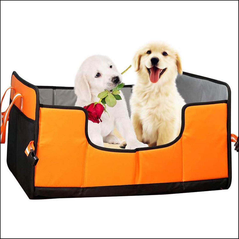 Cat Kennels, Folding Breathable Ultimate Cat Scratcher Lounge, Travel Car Pet Supplies (color   orange)