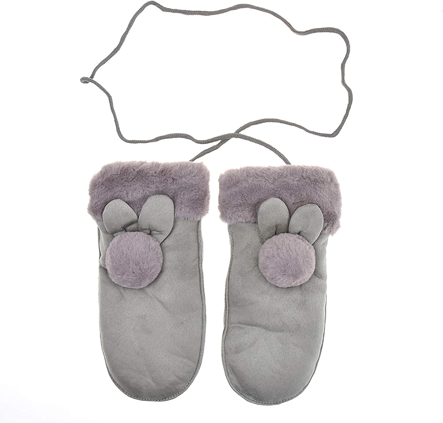 MISAZ Winter Mittens Kids sale Plush with Gloves Lining Warm String Cheap super special price