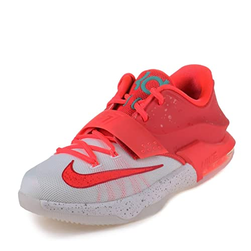 1117223a1052 NIKE Boys KD VII (GS) Christmas Bright Crimson Ivory-Emerald Grn Synthetic