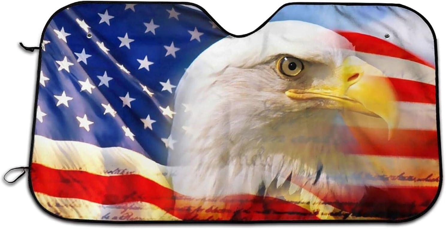 American Flag Car Windshield Curtains Max 86% OFF Popular standard Blocks Shade Rays Sun Uv