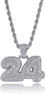 Moca Jewelry - Collana con ciondolo a forma di bolla, in oro 18 carati, con 24 ciondoli in zirconia cubica, con micro pavé...