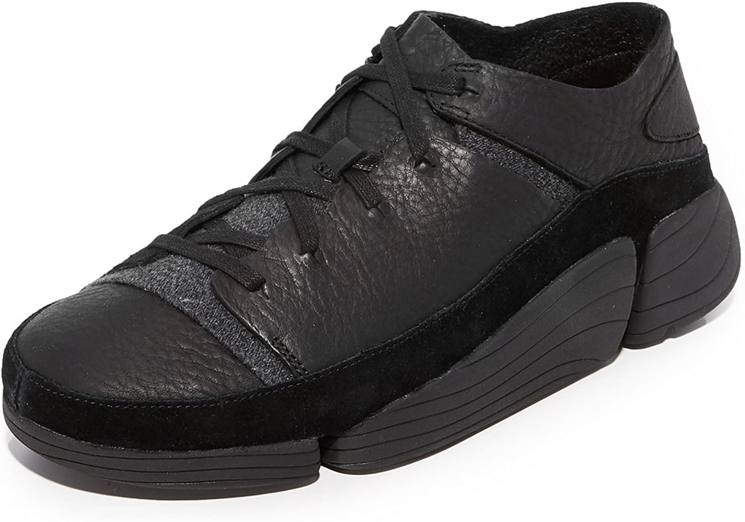 Clarks - Mens Trigenic Evo shoes, 11 D(M) US, Black Leather