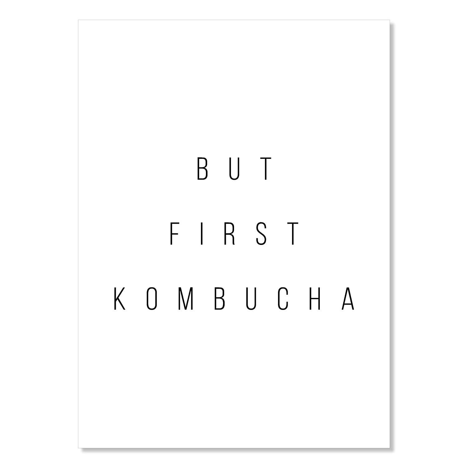 But First Kombucha Unframed Print New color Super beauty product restock quality top!