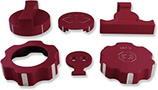 American Brother Designs ABD-1517GBE Under Hood Kit Crystal Red Tincoat/Crystal Claret Tincoat 6 Pc. Under Hood Kit
