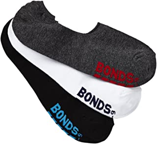 Bonds Men's Logo Footlet Socks (3 Pack)