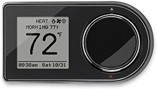 Lux Products GEO-BL 7-Day Programmable Wi-Fi Thermostat, Works with Alexa, Geofencing Capable, Black