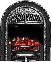 LXDDP Chimenea eléctrica - Cocina eléctrica con Mando a Distancia 750 W 1500 W Chimenea Decorativa Temperatura Regulable con Efecto Quemador leña